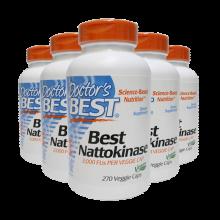 美国Doctor's Best纳豆激酶胶囊Nattokinase脑梗降血脂软化血管成人中老年保健品 5瓶
