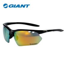 捷安特(GIANT)GS630R 3组UV400 PC特A镜片骑行眼镜 黑框 均码
