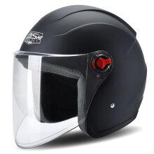 骑士(QISHI)631黑色 电动摩托车头盔男夏季防晒电瓶车头盔女士轻便半覆式四季安全帽半盔夏盔 均码