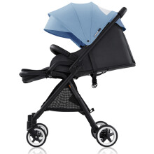 爱贝丽(Ibelieve)婴儿推车 婴儿车儿童童车超轻便高景观可坐可躺0-3岁宝宝手推车 玲珑3代精装 雾霾蓝