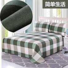 军迷床褥老粗布床单单件双人三件套1518床宿舍单人床被单花睡神 简单生活 单人床 1.4x2.3m