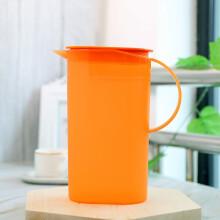 特百惠(Tupperware)春暖花开冷水壶塑料水壶大容量冷水壶饮料壶果汁壶1.7L 橙色