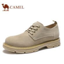 骆驼(CAMEL)男鞋 时尚百搭休闲大头复古工装鞋  A932542110 沙色 40