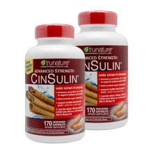 TruNature CinSulin 肉桂+酵母铬 降血糖胶囊 170粒调节三高 美国直邮 2瓶装(170元/瓶)