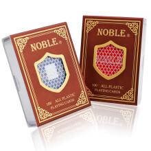 NOBLE双面磨砂塑料扑克牌国高扑克牌双面磨砂塑料PVC 窄版1805蓝色1副