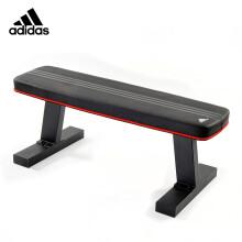 阿迪达斯(adidas)哑铃凳 家用仰卧起坐大平凳飞鸟练习平板凳训练健身器材ADBE-10232