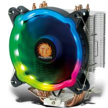 Tt(Thermaltake)彩虹D400P流光 CPU散热器 (多平台/支持AM4/4热管/LED RGB风扇/带硅脂/静音/智能温控)