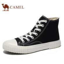 骆驼(CAMEL) 时尚高帮运动休闲百搭帆布鞋男 A932278031 黑色 43