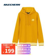 斯凯奇Skechers男女同款运动休闲连帽套头衫卫衣L320U071 古金色00D8 L