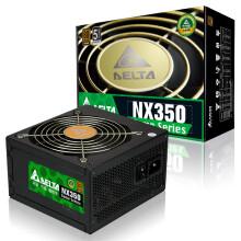 台达(Delta)额定350W NX350游戏主机电源(80PLUS铜牌认证/五年质保/日系电容/12CM温控静音风扇/支持背线)