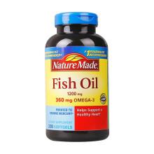 美国进口 天维美(Nature Made)深海鱼油液体软胶囊  无腥味全家分享装220粒  莱萃美