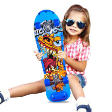 运动伙伴 儿童滑板双翘板四轮初学者成人儿童男女刷街代步新手初学者滑板车 蓝色