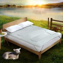 水星家纺 澳洲抗菌羊毛床垫床褥子垫被可折叠加厚 素灰色 加大双人1.8床 180*200cm