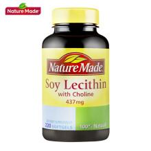 京东国际              【美国进口】Nature Made天维美 大豆卵磷脂胶囊 220粒/瓶 莱萃美 鱼油好搭档