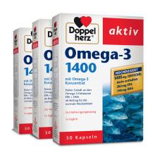 京东国际【德国进口】双心高浓缩冷水深海鱼油软胶囊1400mg30粒*3件装OMEGA3