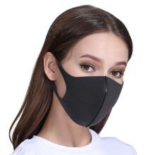 京东超市适美佳防尘口罩男女潮款非一次性口罩黑灰色标准5只装立体可水洗