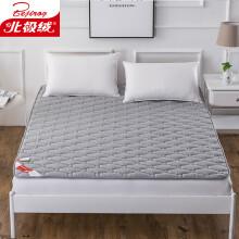 北极绒 床垫家纺 舒适透气床垫子四季保护垫可折叠床褥子垫被 灰色 180*200cm