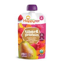 京东国际禧贝HappyBABY 有机纤维蛋白果蔬泥 雪梨覆盆子南瓜胡萝卜 113g 美国进口 12个月