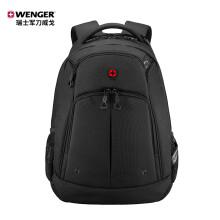 瑞士军刀威戈Wenger商务通勤双肩笔记本电脑背包15.6英寸防泼水大容量简约书包 黑色610895 轻便通勤|14.4英寸|黑色