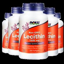 京东国际              美国进口now大豆卵磷脂lecithin软胶囊200粒超浓缩辅助降血脂 5瓶