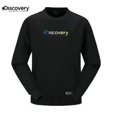 DISCOVERY EXPEDITION 潮流户外 男女通款宽松字母logo印花套头卫衣 黑色 S