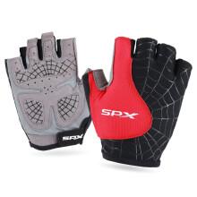 喜德盛(xds) 自行车手套半指男女骑行装备山地车短指手套透气减震变速车半指手套 S041红色 XL