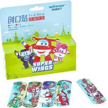 稳健(Winner)超级飞侠儿童创可贴 防水舒适透气 可重复黏贴卡通  森林主题创口贴 5片/盒