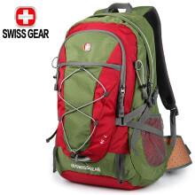 SWISSGEAR运动户外登山包40L背包徒步包男女旅游包大容量休闲旅行包双肩包 绿色