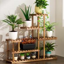 安尔雅  松木花架子室内外客厅阳台多肉植物实木多层组装现代简约置物架