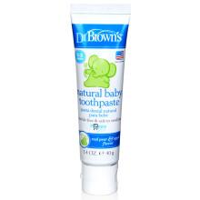 京东国际              布朗博士(DrBrown's)儿童牙膏 美国原装进口无氟可吞咽可食 水果味儿童牙膏 0-6岁