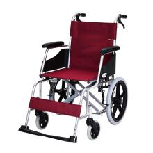 泰康老年轮椅折叠老人轻便手动残疾人轮椅家用旅行可上飞机铝合金小轮免充气可折叠 4633-1