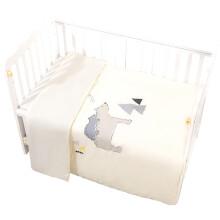 京东超市gb好孩子 婴儿被子春夏 宝宝四季两用被 纯棉儿童被子幼儿园被子 侏罗纪公园梭织两用被 米黄