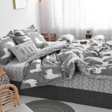 亿思被 学生宿舍三件套床上用品寝室上铺下铺单人六件套枕套床单被套双人四件套 夜华 1.2床六件套:三件套+枕芯+4斤被芯+床垫