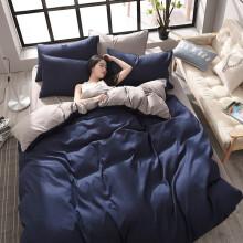 喜寝来 三件套学生上下铺纯色三件套 纯色床上用品纯色单人床品套件 纯色三件套纯色双人床上用品 卡其灰 1.8米四件套(被套180*220cm)