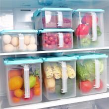 京东超市爱思得(Arsto)冰箱保鲜盒塑料收纳盒密封饺子盒速冻厨房收纳箱蓝色3件套装