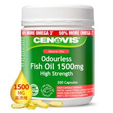Cenovis 深海鱼油软胶囊 1500mg 200粒/瓶 欧米伽3 中老年孕妇鱼油 澳洲进口