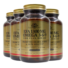 美国SOLGAR琉璃苣油亚麻籽油Omega 3-6-9鱼油中老年降胆固醇清血管防老年痴呆 4瓶