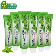 日本LION White亮齿美白牙膏(清新薄荷)160g*6(泰国原产进口)
