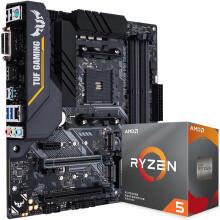 华硕TUF B450M-PRO GAMING主板(AMD B450/AM4)+AMD 锐龙5(r5) 3600 CPU处理器 板U套装 CPU主板套装