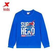 京东超市特步(XTEP)童装套头卫衣男童超人印花运动上衣 680325204898_Ⅰ 彩兰 165cm