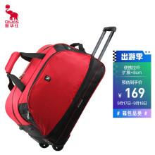 爱华仕(OIWAS)拉杆包 防泼水大容量户外旅行袋 休闲运动拉杆包 8001红色
