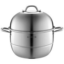 美厨(maxcook)二层蒸锅 加厚不锈钢复底34CM 电磁炉燃气炉通用 蒸煮两用MCZ777
