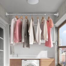 京东超市雯萱 浴帘杆窗帘衣柜撑杆免打孔不锈钢伸缩晾衣杆门帘杆置物杆单杆(1.3m-2.4m)