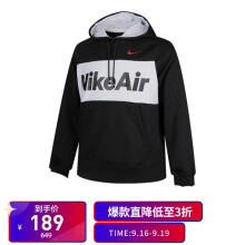 耐克 NIKE 男子 套头衫 AS M NSW NIKE AIR HOODIE POFLC 运动服 CJ4825-010黑 M码