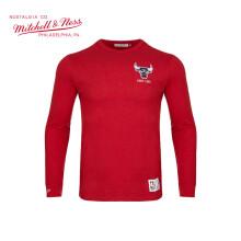 Mitchell Ness球队款 运动休闲长袖T恤 NBA湖人勇士猛龙骑士队 公牛队 S