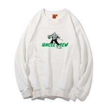 品宇纯棉卫衣男套头篮球服球衣科比杜兰特欧文德鲁长袖定制印制 白色-欧文Drew#1 S(155-160)