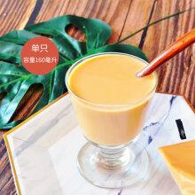 日本ins高脚玻璃杯思慕雪杯酸奶杯果汁杯水果杯雪糕杯奶昔杯 单只160ml利比高脚奶昔杯