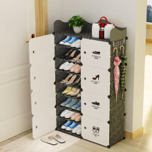 蔻丝 coleshome 门口鞋架多层简易鞋柜防尘组装铁艺框架宿舍小鞋架 分类贴纸款