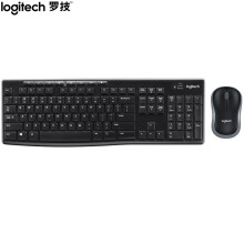 罗技(Logitech)MK270 键鼠套装 无线键鼠套装 办公键鼠套装 全尺寸 黑色 自营 带无线2.4G接收器
