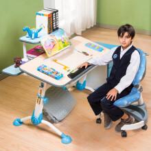 生活诚品台湾原装儿童学习桌椅套装桌长90cm 可升降学生书桌写字桌适用于中小户型 ME305+AU602B